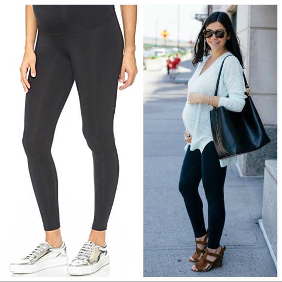 c97483ec14b94 david lerner Pants - David Lerner black Full panel maternity leggings